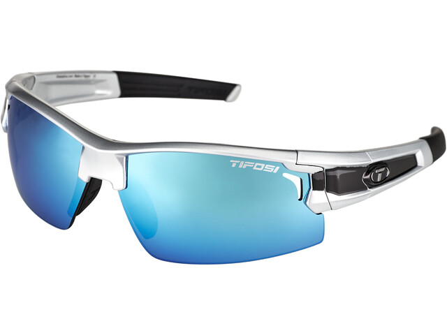 Tifosi Escalate FH Cykelbriller Herrer, silver/black - clarion blue/ac red/clear